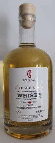 Boldizar Whisky Single Malt Cask Strength - 0,5 l - 59,9 % vol